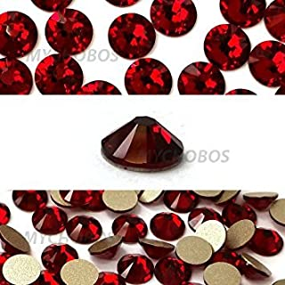 Zipperstop SIAM (208) Dark red Swarovski New 2088 XIRIUS Rose 20ss 5mm Flatback No-Hotfix Rhinestones ss20 144 pcs (1 Gross) from Mychobos (Crystal-Wholesale)*