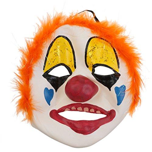 ke aus Latex für Halloween Kostüm - Dumme Joker ()