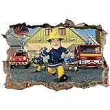 Aufkleber Feuerwehrmann Sam, 3D, Ref, 23276, 30 x 20 cm