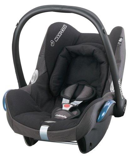 Maxi-Cosi 61700091 - Cabriofix Black Reflection Autokindersitz Gruppe 0+ (bis 13 kg), ab der Geburt bis ca. 15 Monate