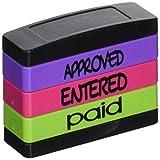 Stack voreingefärbter Stempel Triple Nachricht Stempel Genehmigt/Eingereicht/Bezahlt