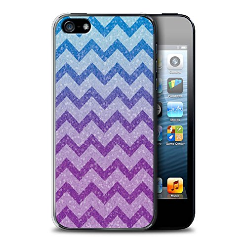 Stuff4® Hülle/Case für Apple iPhone 5/5S / Hübsche Ombre/Funkeln Muster/Lila Mode Kollektion