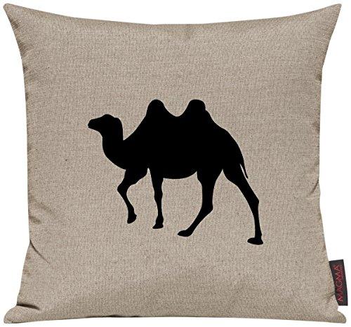 """Kissenhülle für Auserwählte! Sofakissen Tiere """"Dein lieblings Tier Kamel"""", Farbe taupe"""