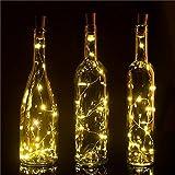 Skaize LED Flaschen Beleuchtung Flaschenstöpsel mit LED Lichterkette (Universal einsetzbar, Battereibetrieben, 150cm Lang, 4Stück)