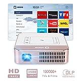 AODIN WOW Mini Portable HD Videoprojecteur 3500 Lumen WiFi Projecteur, DLP LED Home...