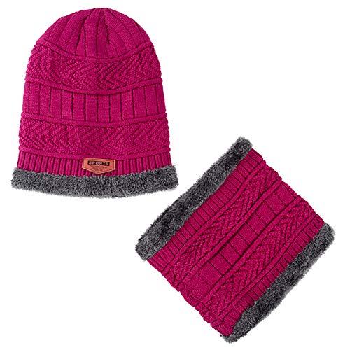 SegRJFashion - Juego de bufandas de lana para hombre de invierno cálido color sólido - gris, rojo
