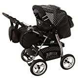 Kinderwagen King Cosmic Black & Snowflakes