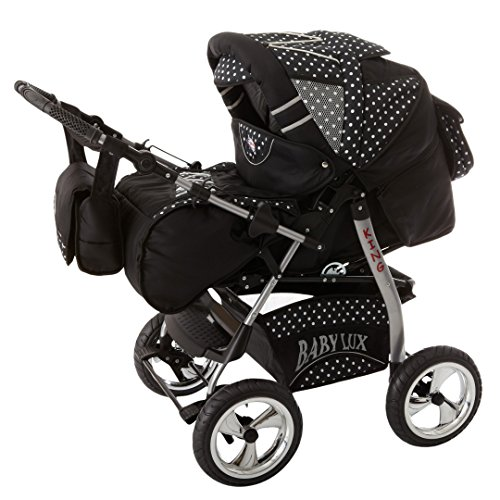lux4Kit poussette enfant Nacelle Siège Sport Coque bébé Sac à langer matelas Poussette Accessoires Mega Option sur 400Choix 3en 1ou 2en 1fabriqué en UE icaddy