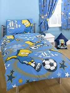 Parure housse de couette Linge de lit 1 Personne Enfant Garcon ou fille Bart Simpson