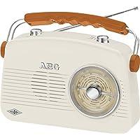 AEG Nr 4155portatile Radio FM/AM retrò, AUX-IN crema