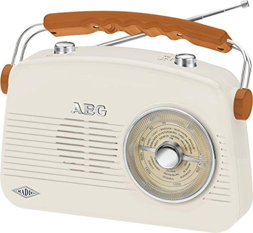 AEG NR 4155 Tragbares Retro-UKW/MW-Radio, AUX-IN