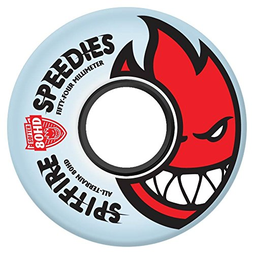 Spitfire Bighead Wheels White/Sky Blue 57mm