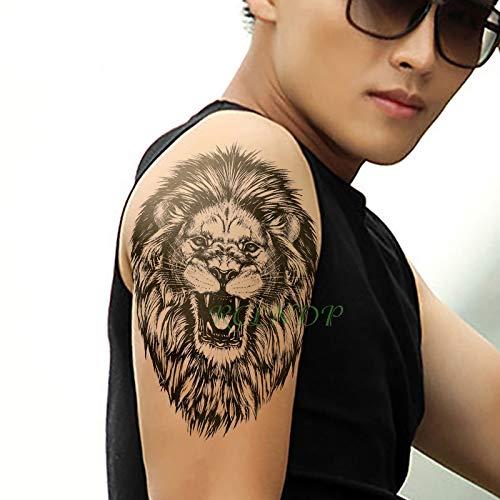 te tatoo Tattoo Aufkleber Lion King Tier Große Größe Tatto Flash Tatoo tattoos schulter Bein Arm für Männer Frauen ()