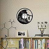 AIYOUBU Phil Collins Vinel Record Horloge Murale Maison Art Décor Cadeau Original Unique Design Fait À La Main Vinyle Horloge Noir Exclusive Horloge Fan Art