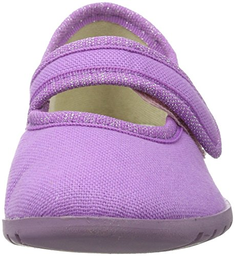Giesswein Liebstedt, Chaussons courts, non doublées fille Rose (306 / Fuchsia)