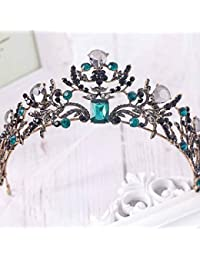 Tiara de boda simbólica, vintage, coronas de flores para novia para mujer (oro