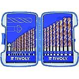 Tivoly Bumper Furius–Coffret de forets DIN 338HSS avec revêtement en céramique pour le perçage de Calao durs