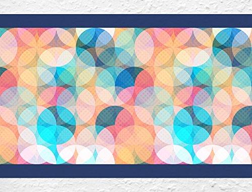"Preisvergleich Produktbild I-love-Wandtattoo b-10179 Bordüre ""Farbige Kreise"" Wohnraum Küche Kinderzimmer Deko Wanddeko Wandsticker Wandaufkleber Wandtattoo"