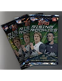 (3) 2011 Topps Rising Rookies Football Cards Unopened Packs (10 cards per pack)- Randomly Inserted Autographs & Jersey Cards - Cam Newton Rookie Year!