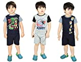 Dewberrys T-shirt with Shorts Combo Set of 3 for Baby Boy's and Baby Girl's