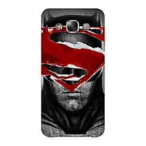 Delighted Black Red Forhead Back Case Cover for Galaxy E7