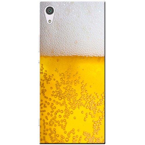 Nahaufnahme schaumiges Bier weiße Krone Hartschalenhülle Telefonhülle zum Aufstecken für Sony Xperia XA1