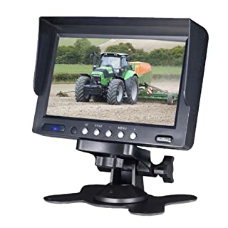 Dietz AV6024DM Car LCD Monitor / 15.2 cm 6-Inch/Video Inputs/Audio Inputs/Various Mounting Options/NTSC/PAL/Stand Included