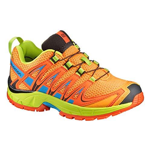 Salomon Unisex-Kinder Xa Pro 3d J Outdoor-Multisport-Schuhe Bright Marigold/Flame/Lime Punch