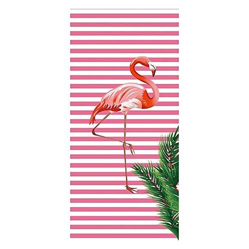 RainBabe Strandtuch Stranddecke Picknickdecke Campingdecke Flamingo Rosa Pool Handtuch Badetuch auf Schwimmen Strand 70cmx150cm/27.6