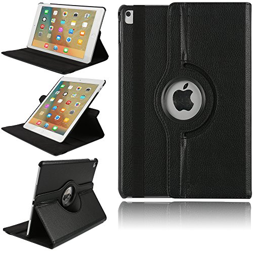 TechCode iPad Pro 12.9 Zoll Smart Hülle, Magnetic Detachable Hidden Multi-Angle Folio 360 Grad Drehende Stand Cover Smart Hülle für iPad Pro 12.9 (iPad Pro 12.9, Schwarz)