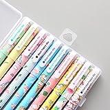 ABYED La papeterie coréenne de flamant et unicorne- les stylos neutres de couleur - 10 pièces de la papeterie d'étude,