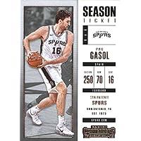2017–18Dépasse Panini Season Ticket # 13–Pau Gasol San Antonio Spurs Basketball carte