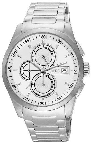 Esprit  Circolo Chrono Silver - Reloj de cuarzo para hombre, con correa de acero inoxidable, color plateado