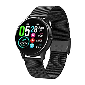 Chenang Fitness Armbanduhr Wasserdicht Smart Watch Fitness trackers Sport Uhr mit Schrittzähler, Pulsmesser, Kamerasteuerung, Musiksteuerung, Schlaf-Monitor, Call SMS Android IOS Handy