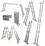4,7 m 4 x 4 multiusos de aluminio escalera extensible multifunción + plataforma
