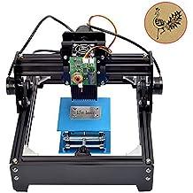 TOPQSC Máquina Grabadora Láser Mini USB de 15W Grabadora Grabadora de Metal Máquina Impresora de Corte