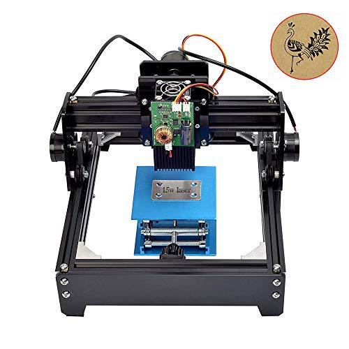 TOPQSC Laser Graviermaschine Gravur 15W USB DIY Leistung einstellbar Metall Stahl Eisen Stein Holz -