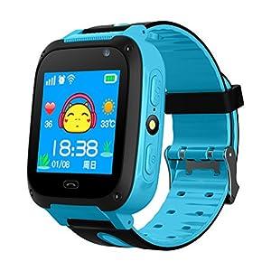 Wasserdicht, mit GPS-Tracker, Smart-Watch mit Schrittzähler Armband SIM-anti-lost SOS Smartwatch für Kinder Geburtstag Geschenk