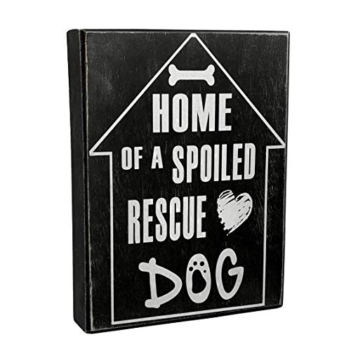 JennyGems - Home of A Spoiled Rescue Dog - Rescue Dog Decor - Shelter Dog Sign - Rettungstier Geschenk