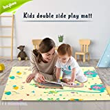 Baybee Baby Play Mat, Foldable Crawling Mat, Double Sided Water Proof Baby Mat, Multi-Purpose Floor Mat for Baby, Extra…