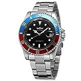 Forsining, orologio da polso vintage a carica automatica, cinturino in acciaio inossidabile con punti, WRG8066M4T6