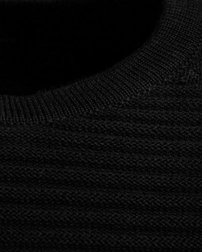 JACK & JONES Herren Pullover Jcowind Knit Crew Neck Noos Nero