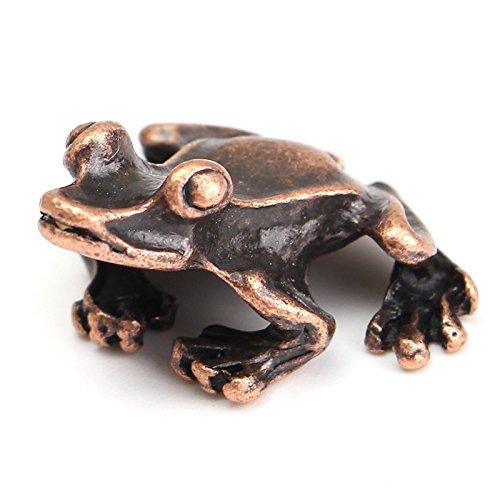 Quemador de incienso rana color bronce adorno mesa