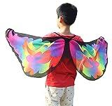 VEMOW Heißer Verkauf Kind Kinder Chmetterling Kostüm Jungen Mädchen Böhmischen Schmetterlingsschal Pashmina Cosplay Party Kostüm Zubehör(X1-Gelb, 118 * 48CM)