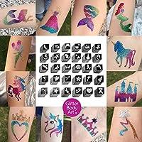 Girls Glitter Tattoo Bulk Pack x 120 Stencils