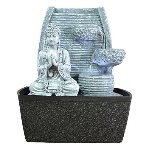 Innenbrunnen Zimmerbrunnen Feng Shui Weisheit LED Beleuchtung 24 cm