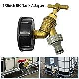 IBC Raccord avec robinet laiton chromé, 1/2 '' diamètre de sortie, S60 × 6...