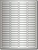 Silver Foil Return Address 1/2 x 1 3/4 Labels for Laser Printers - 800 labels by