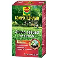 Compo 1331012011 - Abono césped floranid con herbicida de 3 kg