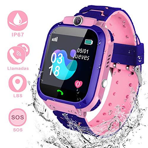 YIYOU Smartwatch Niños, Reloj Inteligente para Niños Impermeable 67 con LBS, Hacer...